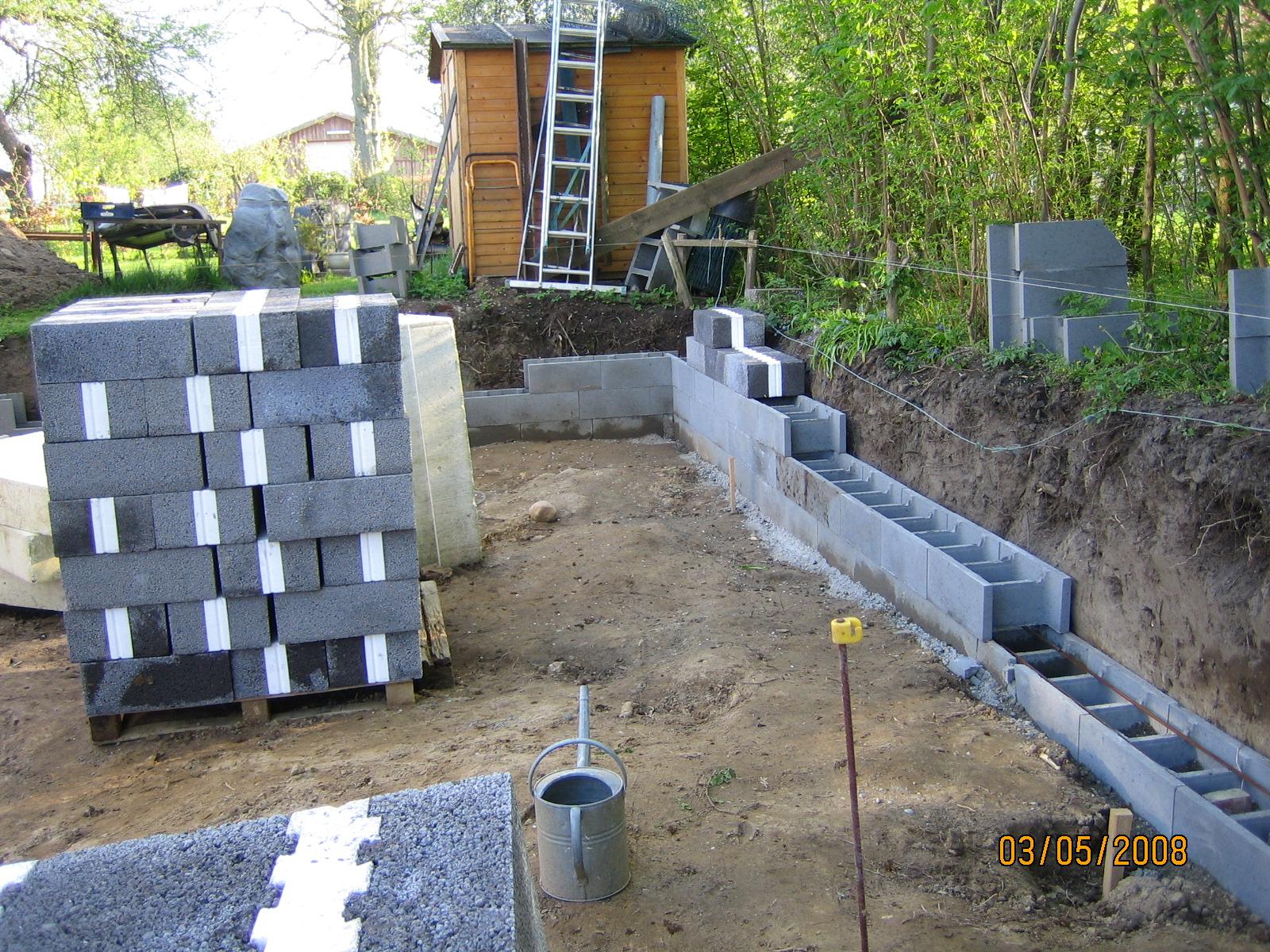 garageprojekt opbygning af fundament. Black Bedroom Furniture Sets. Home Design Ideas